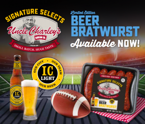 Uncle Charley launches a new fresh beer bratwurst sausage line.