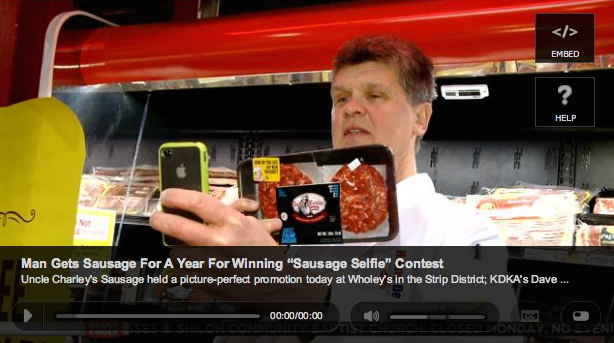 Uncle Charley's KDKA Sausage Win for a Year