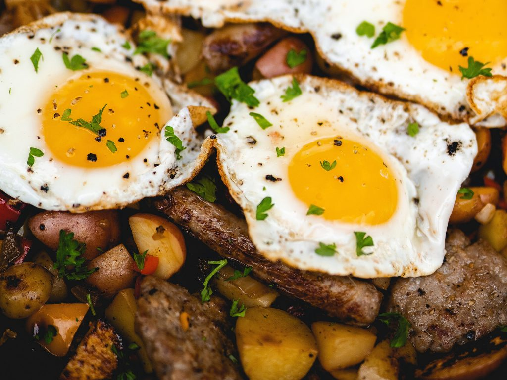 Eggs and Sausage Breakfast